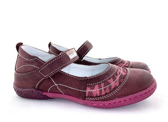 RBG23_3043_D Plum Leather Mary Jane
