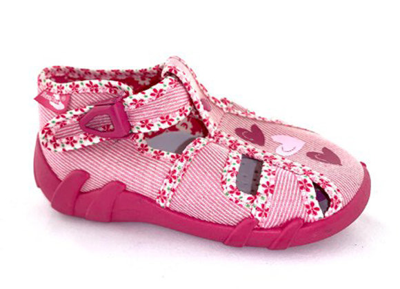 RBG13_106P_CT Pink Canvas Sandals