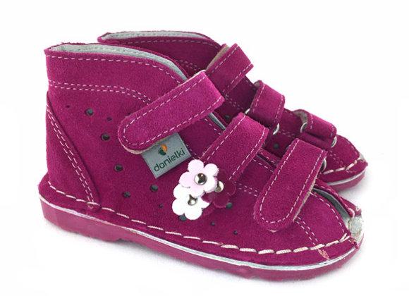 DGS_T125M Magenta Suede Sandals