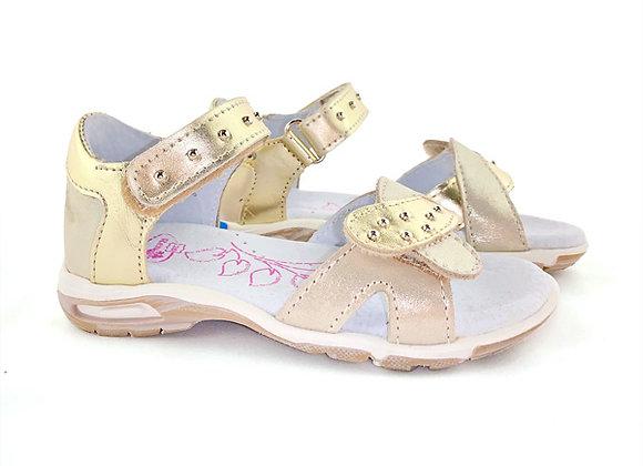 RBG21_3272_OS Gold Leather Sandals