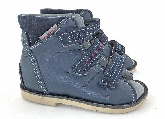 MBOR209J_OS Navy Leather Sandals