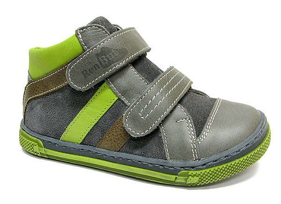 RBB23_3225_HT Gray Leather High Tops