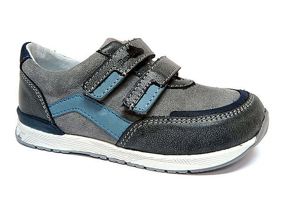 RBB23_3261W_0155_S Gray Leather Sneakers