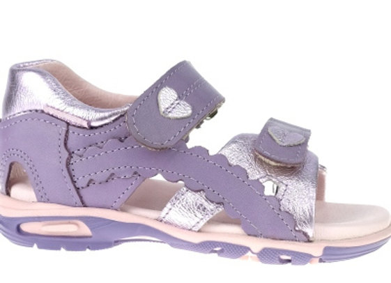 MG293P_OS Purple Pastel Leather Sandals
