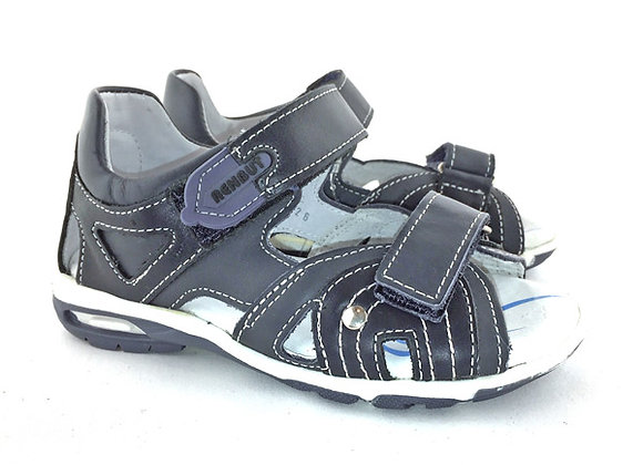 RBB21_3058_OS Navy Leather Sandals