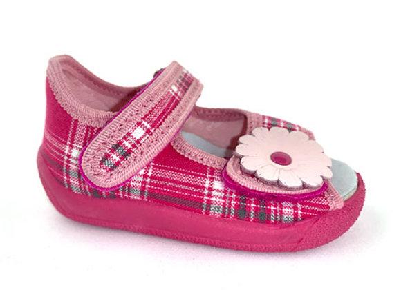 RBG13_138M_OT Pink Checkered Canvas Sandals