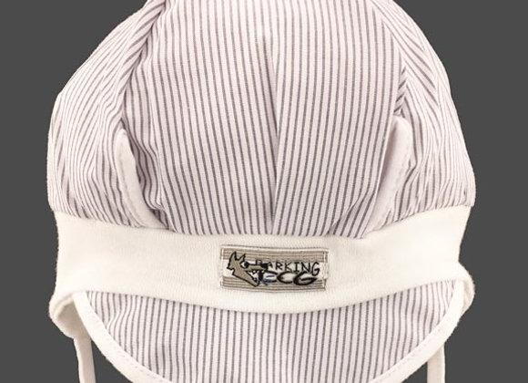 MB_MIK2_SH White Striped Summer/Spring Hat