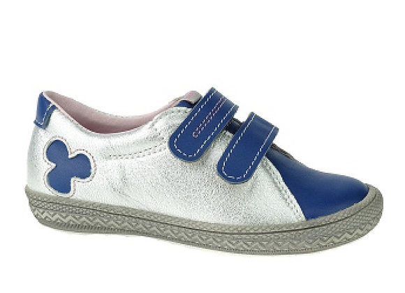 MG1267_1268_S Navy Silver Leather Sneakers