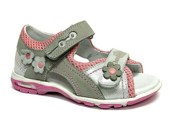 RBG21_3273_0150_OS Gray/Silver Leather Sandals