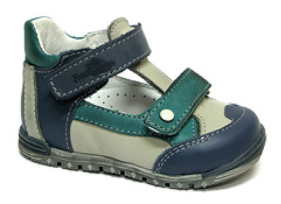 RBB13_1436_CS Gray/Blue Leather Sandals