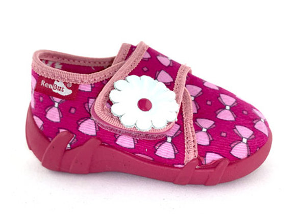 RBG13_110MB Pink Bow Pattern Canvas Shoes