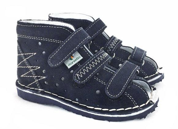 DBS_T105 Navy Suede Sandals