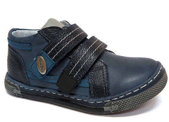 RBB23_3262_NAVY_D Navy Leather Shoes