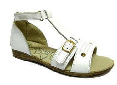 RBG31_42170_0053_OS White Leather Sandals