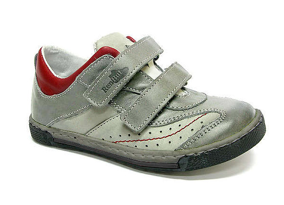 RBB23_3047_0515_S Gray Leather Sneakers