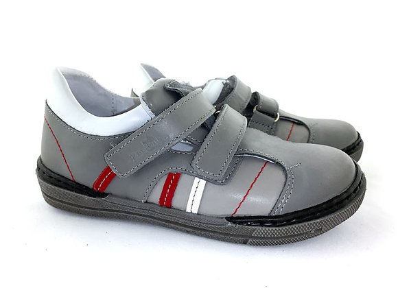 RBB23_3238GR_S Gray Leather Sneakers