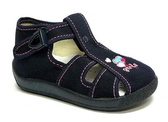 RBG13_106_0205CT Navy Canvas Sandals