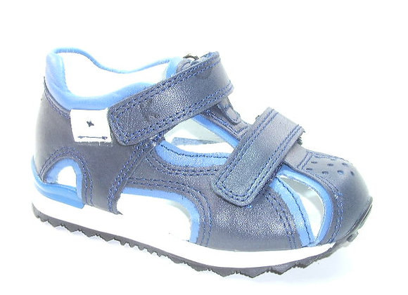 KB3973_CS Navy Leather Sandals