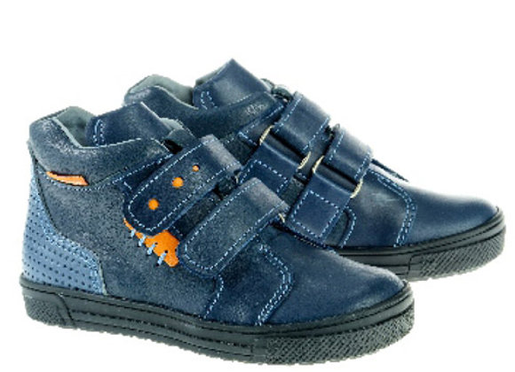MB303_HT Navy Leather High Tops