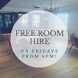 Free room hire at Buckerell Lodge