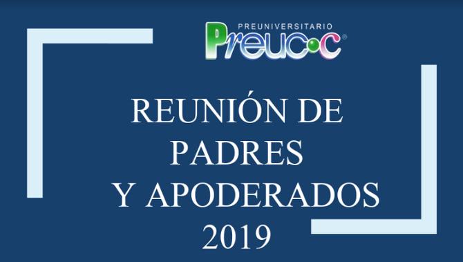 Reunión de Padres y Apoderados 2019