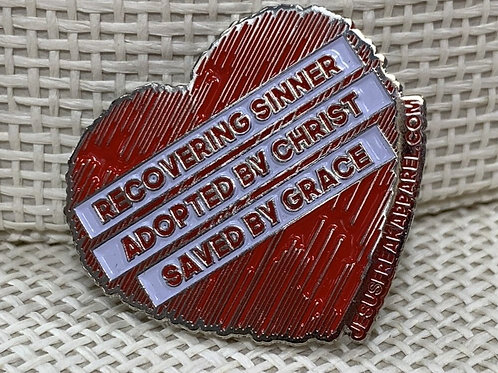 Recovering Sinner Pin