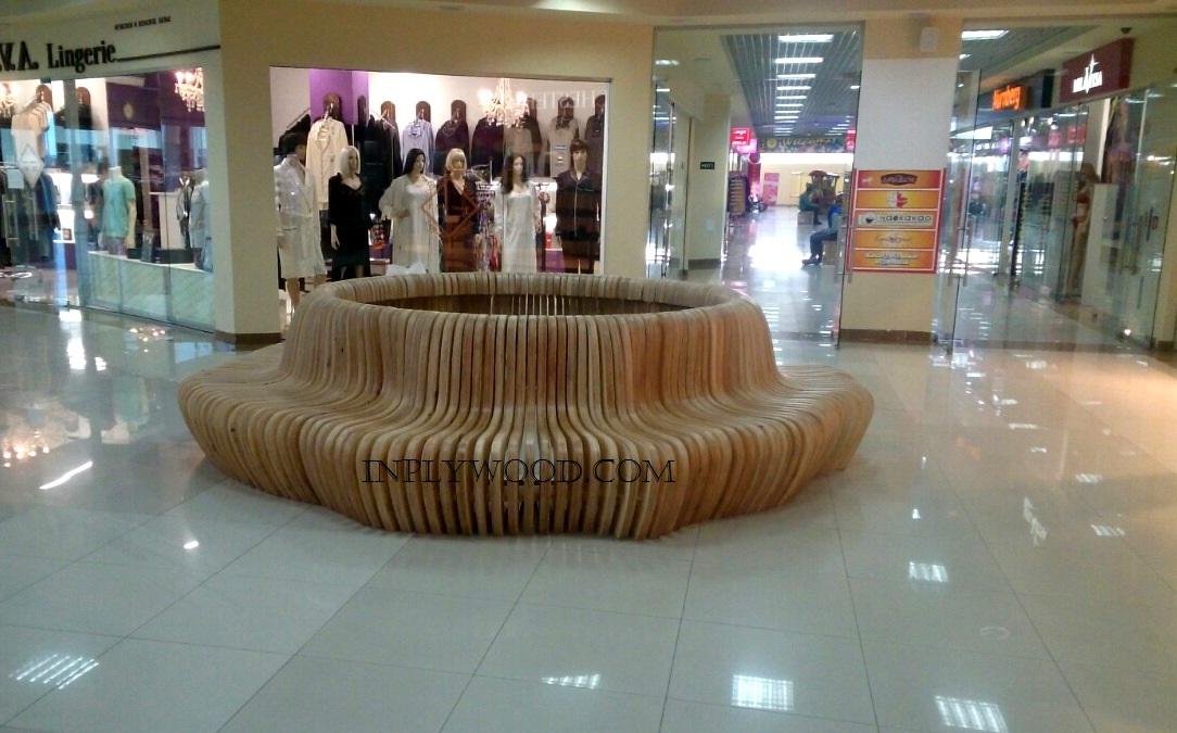 скамейка из фанеры ТЦ Севастополь