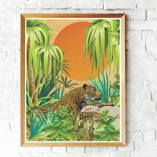 """Sunset Leopard"""