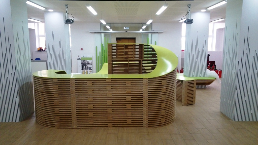 Мебель из фанеры для ДК Зодчие