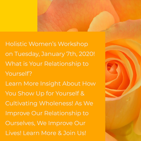 Workshop~ What is Your Relationship to Yourself?