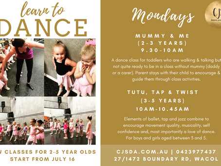 New classes for Term 3!