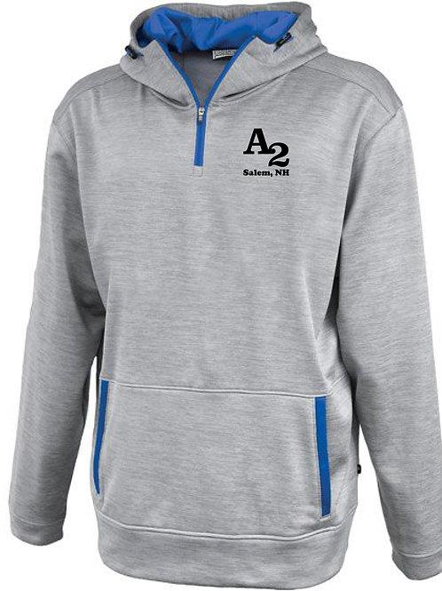 linear 1/4 zip hoodie