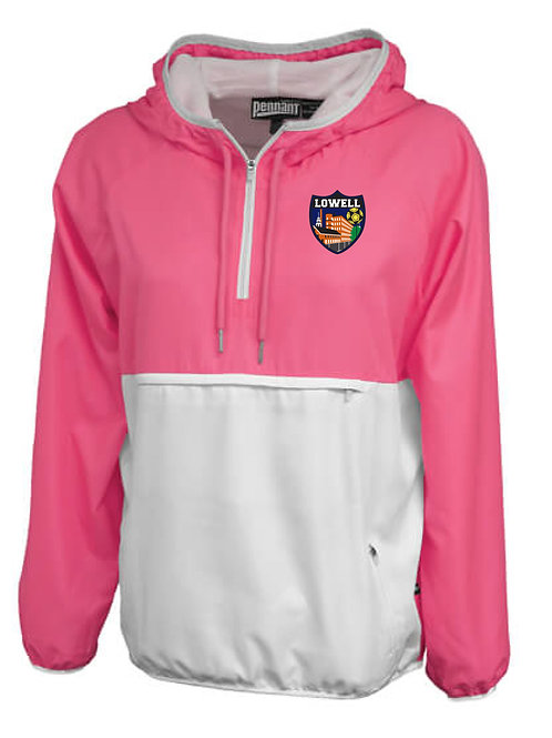 Womens 1/4 zip Hooded Pullover Jacket