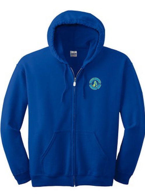 8oz. Zip-up Hooded Sweatshirt