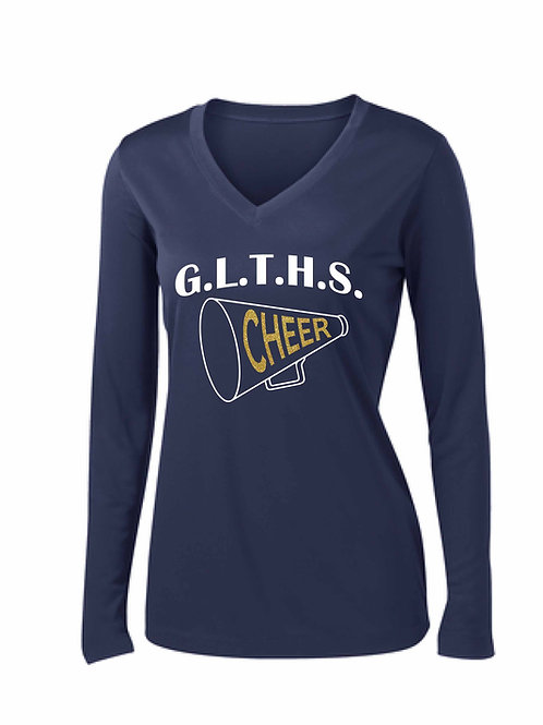 Ladies Long Sleeve PosiCharge® Competitor™ V-Neck Tee