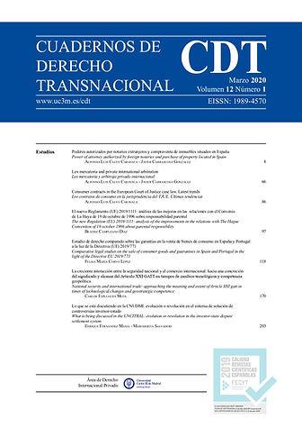 Cuadernos de Derecho Transnacional CDT 2020 vol. 12 isabel antón www.isabelanton.es