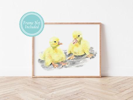 Ducklings - Baby Farm Animal Nursery Wall Art