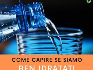 Come capire se siamo ben idratati
