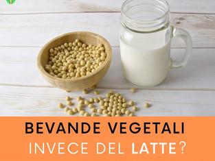 Bevande vegetali invece del latte?