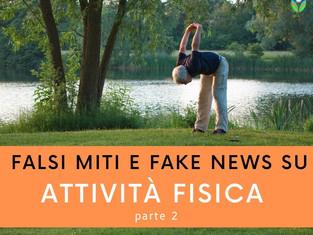 Falsi miti e fake news sull'attività fisica - parte 2