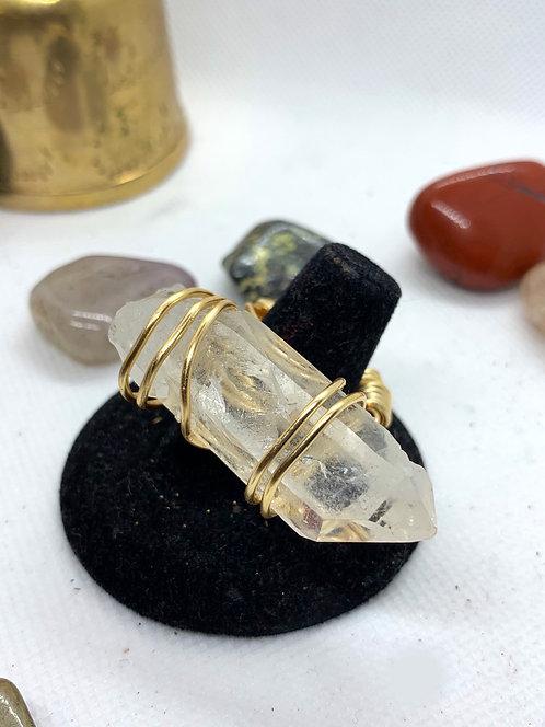 Clear Quartz ring (size 6.5)
