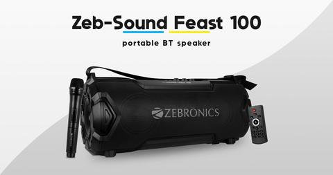 SPK- Zebronics Portable Bluetooth SPK- (Sound Feast 100)mrp- 6,999