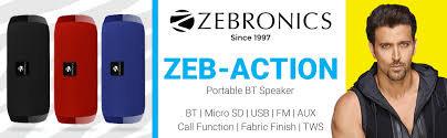SPK- Zebronics portable bluetooth Spk(ACTION)MRP- 1499