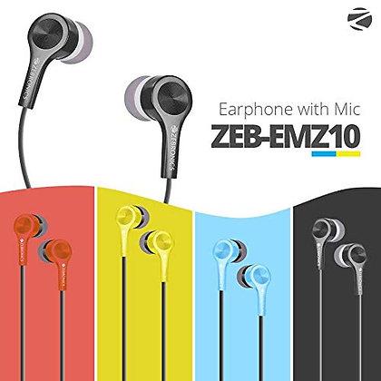 H- EMZ10 Zebronics SterioEarphone With Mic,MRP- 299/-