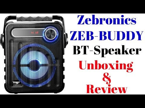 SPK - Zebronics bluetooth spk with fm and tf (BUDDY) , MRP- 1699