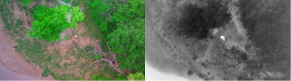 IR camera drone