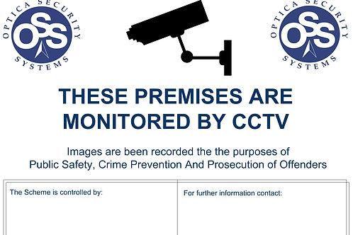 CCTV Sign A3