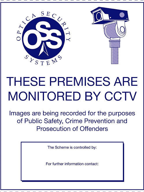 CCTV Sign A4