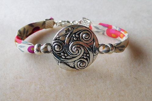 Bracelet Liberty fleuri multicolore