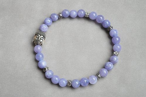 "Bracelet ""Naturea"" Angelite et bouddha"